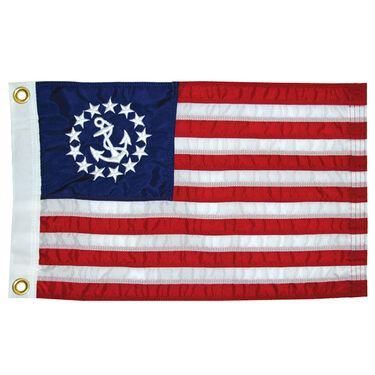 """Sewn US Yacht Ensign, 36"""" x 60"""""""