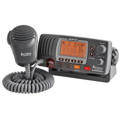 Cobra Marine MR F77 GPS Class-D Fixed-Mount VHF Radio with GPS Receiver, black