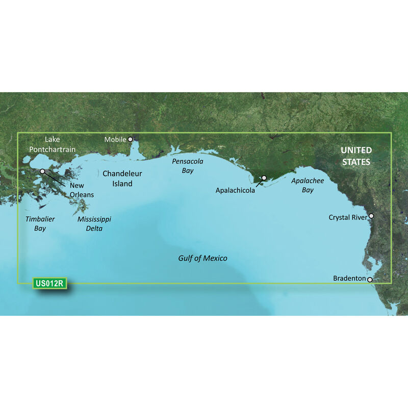 Garmin g2 Vision BlueChart - Tampa to New Orleans image number 1