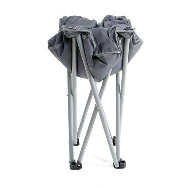 Mac Sports Padded Folding Outdoor Ottoman, Charcoal Gray