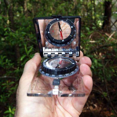 Ultimate Survival Technologies Folding Map Compass, Black