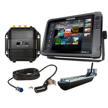 Lowrance HDS-12 Gen3 Insight Fishfinder/Chartplotter Bundle w/StructureScan 3D