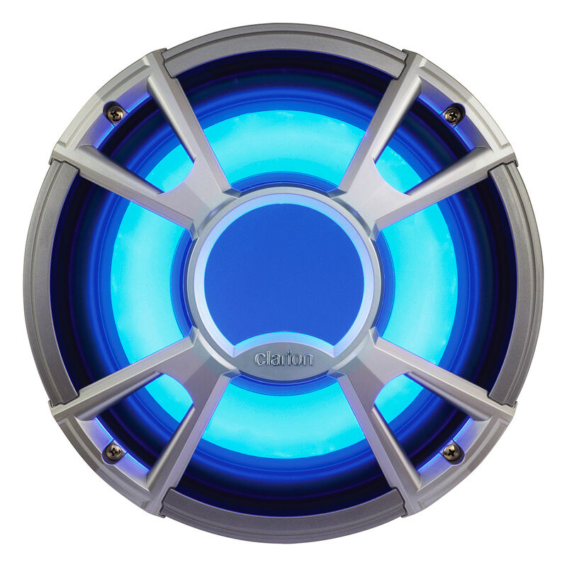 """Clarion CMQ2512WL 10"""" 4-Ohm Subwoofer With Blue LED Lighting image number 1"""