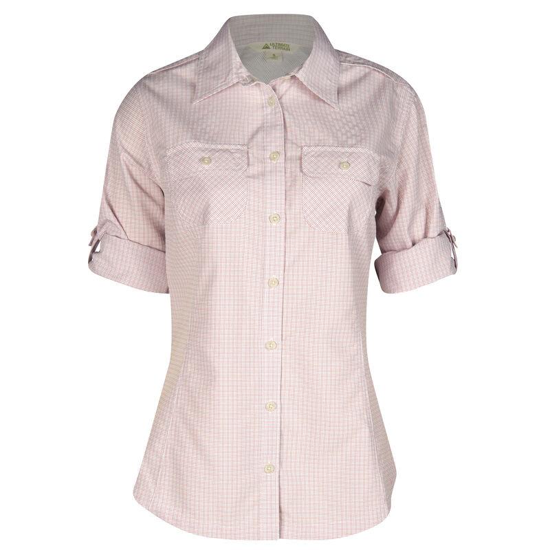 Ultimate Terrain Women's Trailhead Bug Repel Long-Sleeve Plaid Shirt image number 6