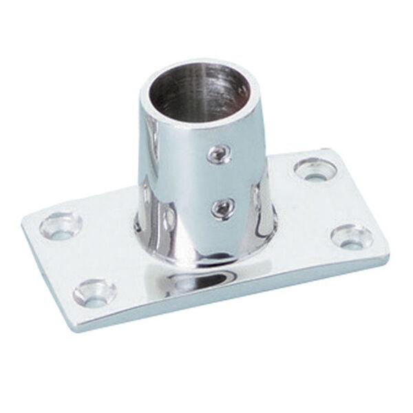 Whitecap Rectangular Base Rail Fitting, Stainless Steel 90°