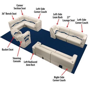 "Toonmate Premium Pontoon 36"" Wide Lounge Seat w/Platinum Base"