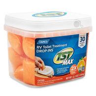 Camco TST MAX RV Toilet Treatment, Citrus Scent, 30 Drop-Ins