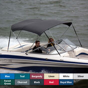 """Shademate Bimini Top Polyester Fabric and Boot Only, 4-Bow 8'L, 42""""H, 79""""-84""""W"""