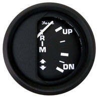 "Faria 2"" Euro Black Series Trim Gauge, OMC Outboard"