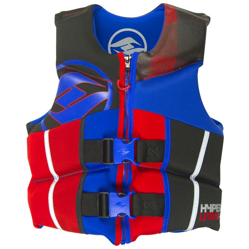 Hyperlite Pro V Youth Life Jacket, blue/red image number 1