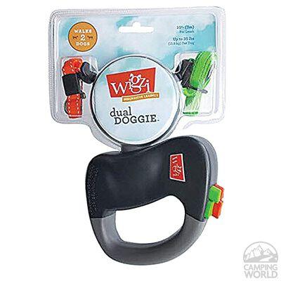 Wigzi Two Dog Reflective Retractable Leash with Zero Tangle Patent