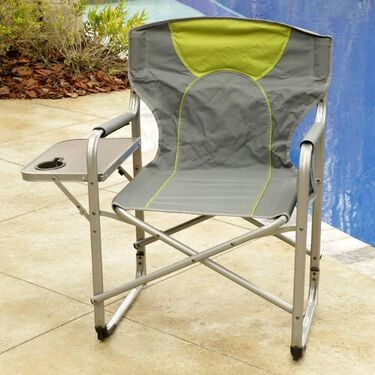 Folding Director's Chair with Side Table