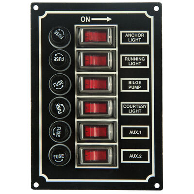Overton's 6-Gang Rocker Switch Panel