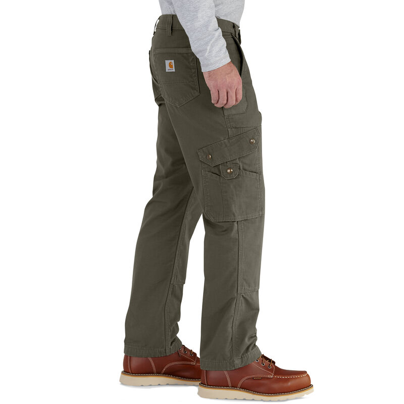 Carhartt Men's Ripstop Cargo Work Flannel-Lined Pant image number 6