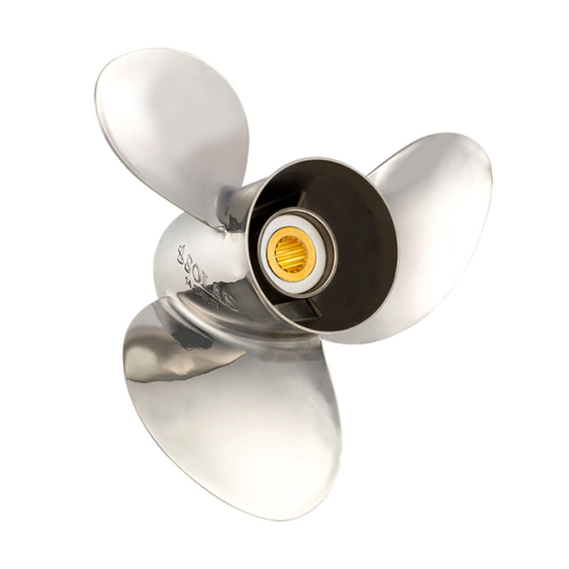 Solas 3-Blade Propeller, Rubber Hub / Stainless Steel, 13-3/4 dia. x 13 pitch, RH image number 1