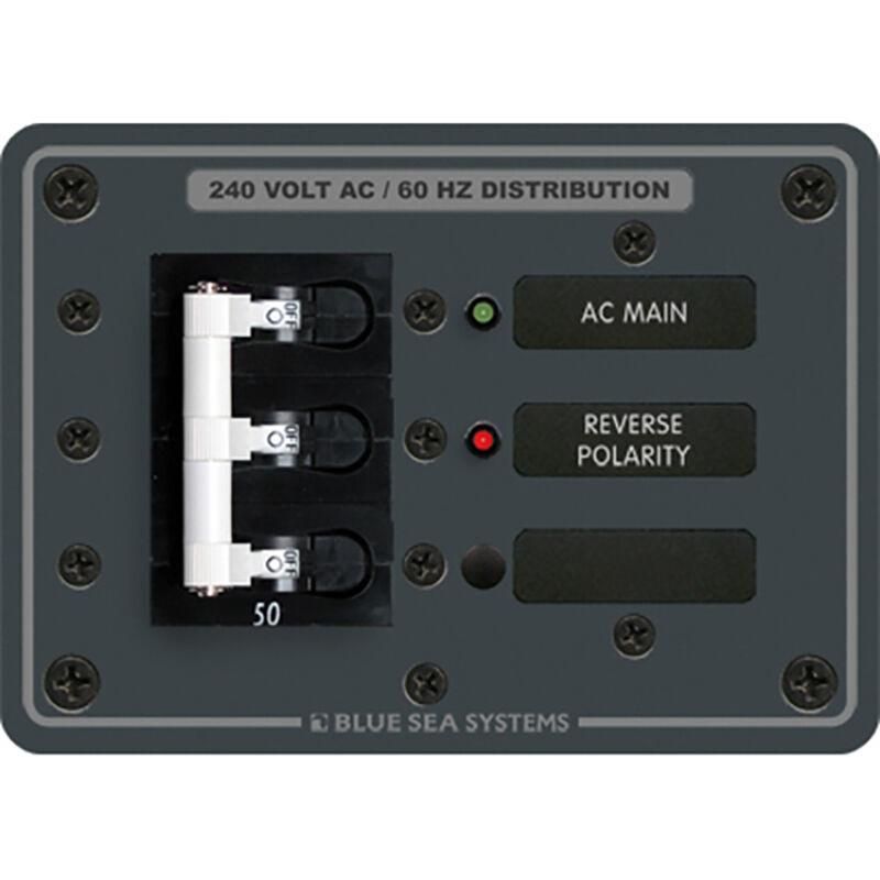 Blue Sea 120/240V AC Main Breaker Panel image number 1