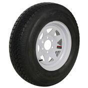 Tredit H188 225/75 x 15 Bias Trailer Tire, 6-Lug Spoke White Rim