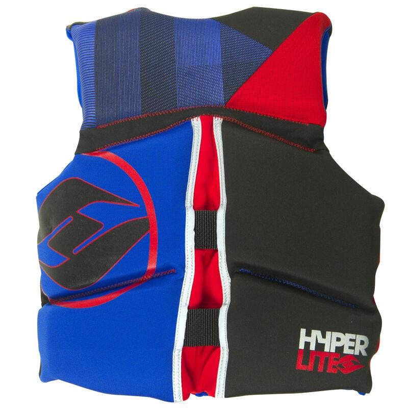 Hyperlite Pro V Youth Life Jacket, blue/red image number 2