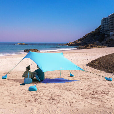 MF Studio Beach Shade 7.6' x 7.2' Sun Shelter and Portable Canopy, Blue