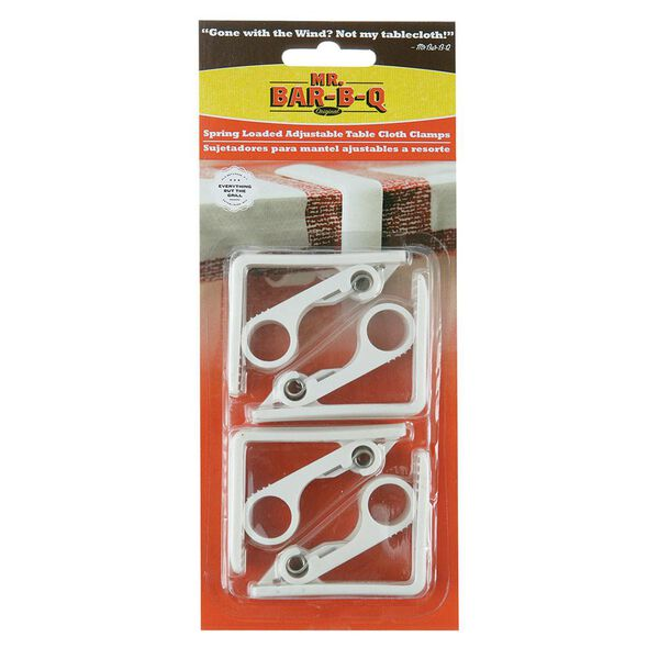 Spring-loaded Tablecloth Clamps, 4-pack