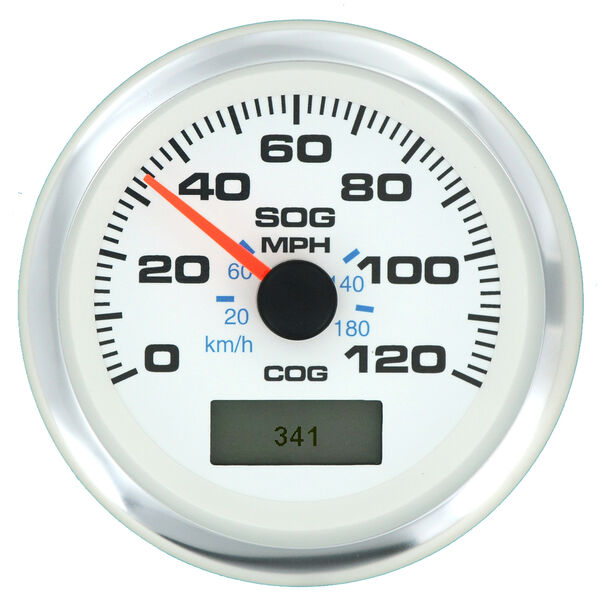 """Sierra White Premier Pro 3"""" GPS Speedometer With LCD, 120 MPH"""