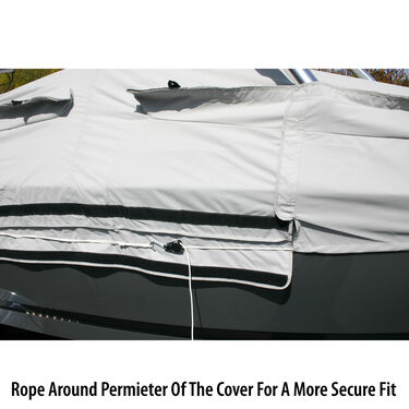 "Tower-All Select-Fit Euro V-Hull I/O Boat Cover, 21'5"" max length, 102"" beam"