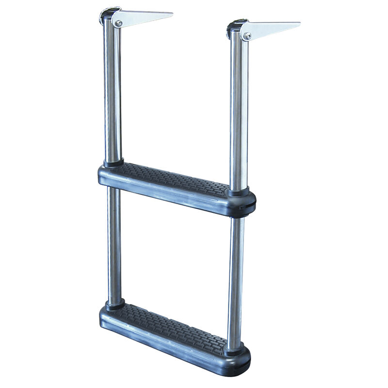Telescoping Drop Ladder With Plastic Steps, 2-Step image number 1
