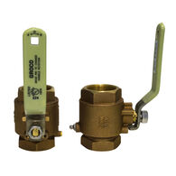 "Groco IBV Series Bronze Full-Flow In-Line Ball Valve, 1/4"" Pipe"
