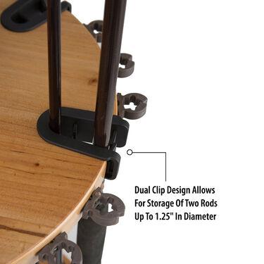 Rush Creek Creations 24-Rod Round Wood Rack
