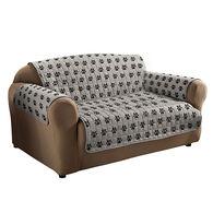 Paw Print Sofa Cover, Gray/Black