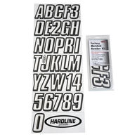 Hardline 800 Series Clear/Black Registration Kit, Beveled 3D Font