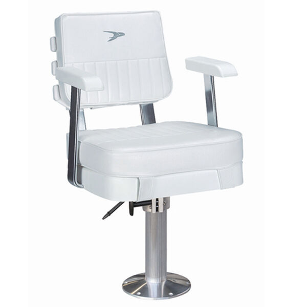 """Wise Ladder Back Helm Chair w/15"""" Fixed Pedestal and Seat Slide"""