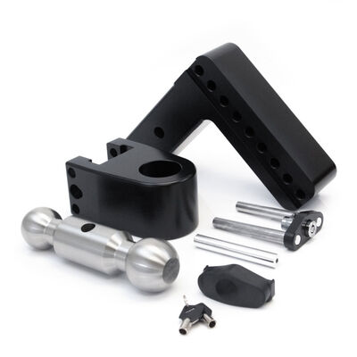 Weigh Safe 180° Drop Hitch w/Keyed Alike Key Lock and Hitch Pin, Black Cerakote Finish and Chrome-Plated Steel Balls