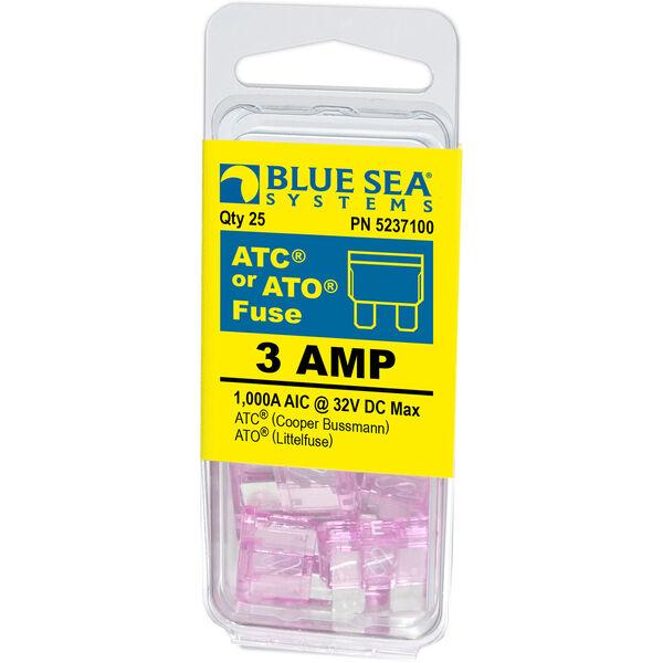 Blue Sea Systems 3A ATO/ATC Fuse (25 Pack)