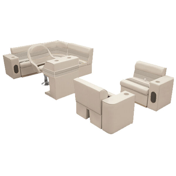 Deluxe Pontoon Furniture w/Toe Kick Base, Group 6 Package, Sand
