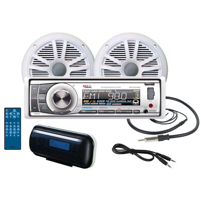Boss MOV752WB.6 AM/FM/MP3 CD Marine Receiver Package With Bluetooth Capability image number 1