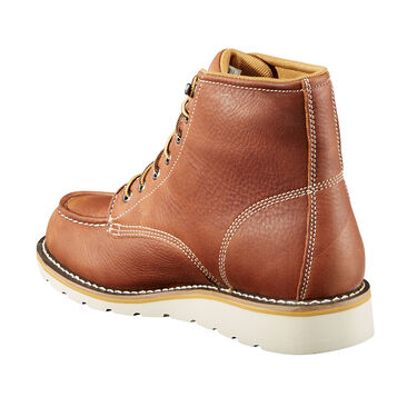 Carhartt Men's 6'' Waterproof Tan Leather Wedge Work Boot