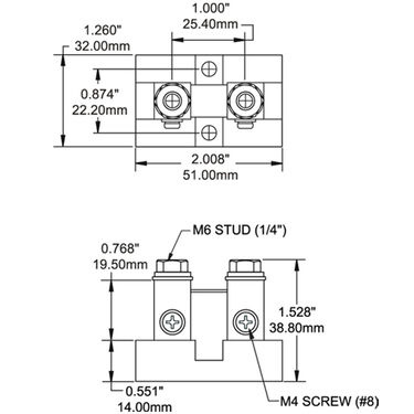 Blue Sea DC Current Shunt 100A/50mV, Analog