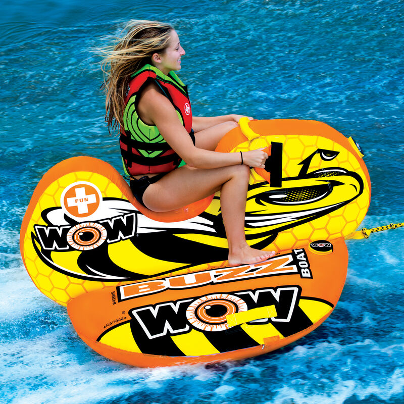 WOW Buzz Boat One-Person Towable Tube image number 3