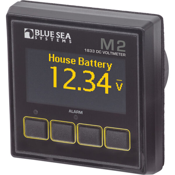 Blue Sea Systems M2 DC Voltmeter OLED Digital Monitor