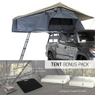 Nomadic 3 Extended Roof Top Tent, Dark Gray and Green
