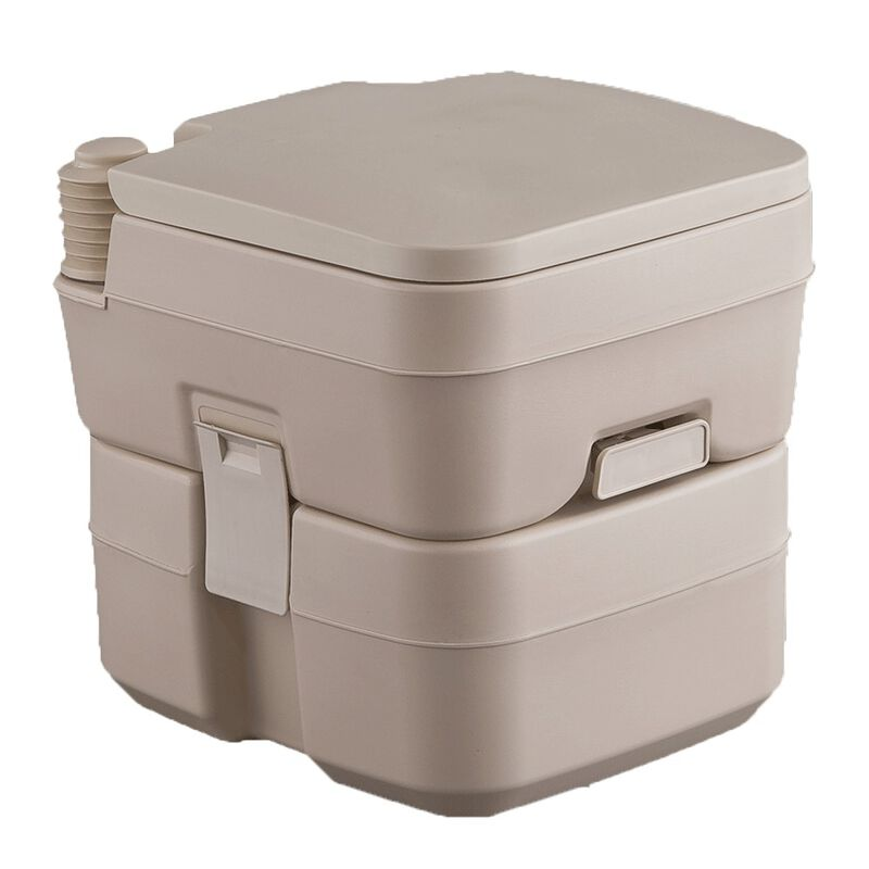 Portable 5 Gallon Tan Toilet, Tan  image number 1