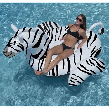 Swimline Giant Zebra Ride-On Float