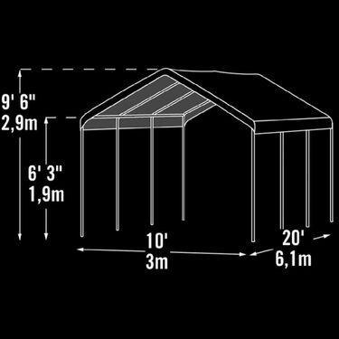 10X20 Max AP 2-In-1 Canopy