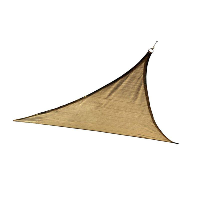 ShadeLogic Sun Shade Sail, Triangle- Sand 16' x 16' x 16' image number 2