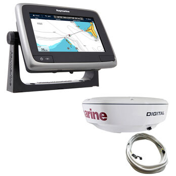 """Raymarine a75 MFD With Wi-Fi And 18"""" RD418D Dome Radar"""