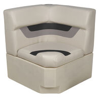Toonmate Designer Pontoon Corner Section Seat, Platinum