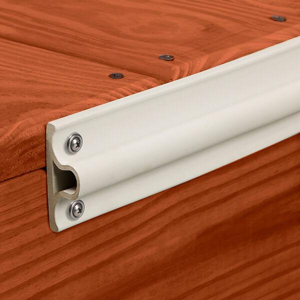 "EPDM Dock Edging White Large ""D"" Profile 6' Length"