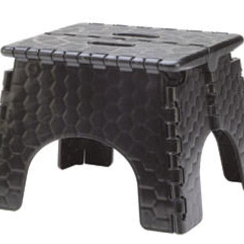 "E-Z Foldz Folding Step Stool, 9"" - Black image number 1"