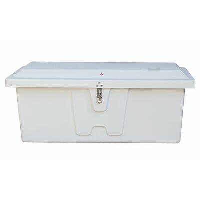 "Stow 'N Go Fiberglass Dock Box White Medium Low Profile (18""H x 48""W x 20""D)"